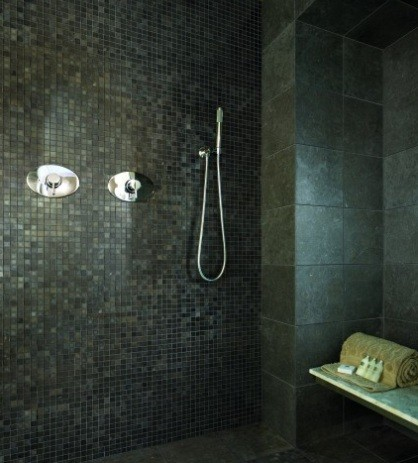 dark bathroom bathroom wall tile patterns dark and dramatic home interiors