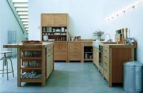 Simple With Free Standing Kitchen Style | Home Interiors