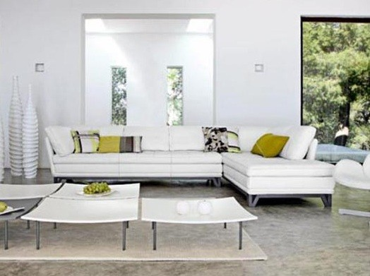 White living room furniture for bigger living room look White living room ideas photos