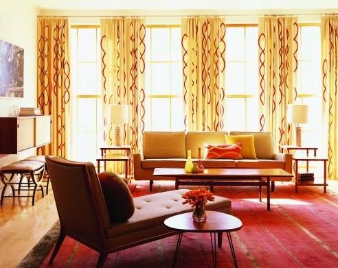 Feel The Nostalgic With Retro Living Room Home Interiors