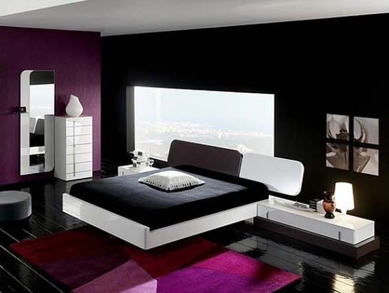 Creative Ideas on Black and White Bedroom Designs
