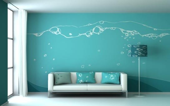 Blue Wall Paint Ideas For Living Room | Gopelling.net