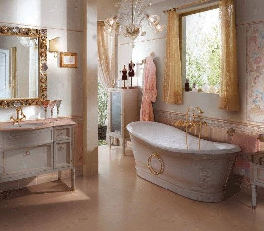 Cork bathroom flooring in elegant bathroom design