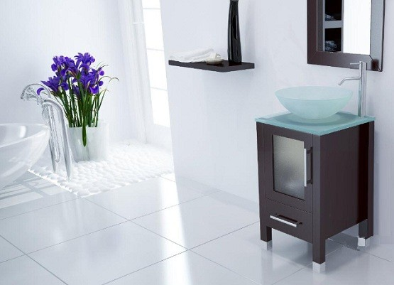 Unique Alternative Idea for Bathroom Vanities with Vessel Sinks