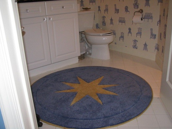 Round Bathroom Rugs For Chicer Bathroom Style Home Interiors