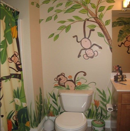 Funny monkey bathroom d cor ideas home interiors for Money bathroom decor