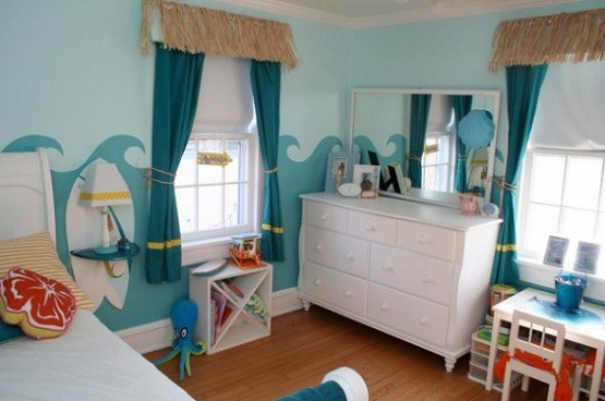 Beach theme bedroom home interiors for Beach theme bedroom ideas for girls