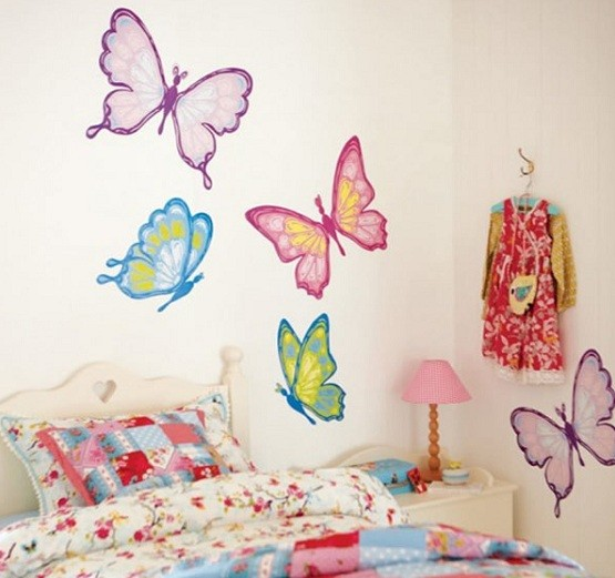 Little girls bedroom decorating ideas wall stickers Little girls bedroom decorating ideas