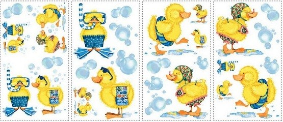 Rubber ducky bathroom decor Wall decals Rubber ducky bathroom decor   Rubber duck bathroom theme