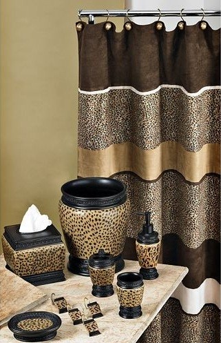 cheetah bathroom set – Curtain etc.