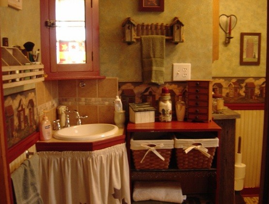 Primitive bathroom decor yellow and black home interiors - Home decorating blogspot gallery ...