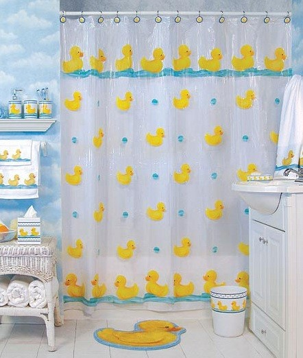 rubber ducky bathroom decor Shower Curtain Rubber ducky bathroom decor   Rubber duck bathroom theme