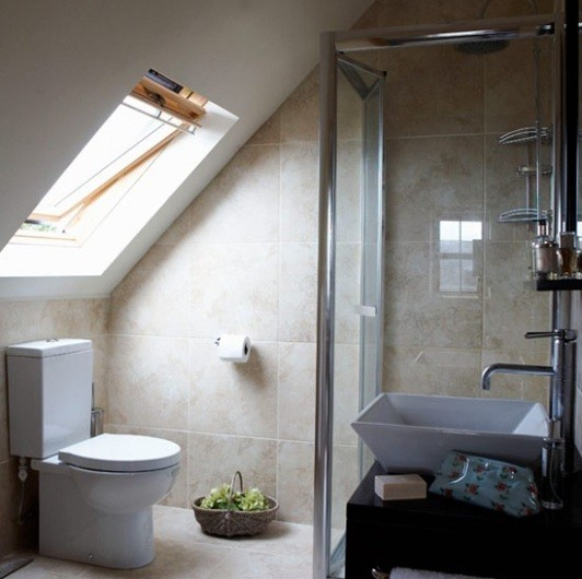 Unique Look Of Attic Bathroom Designs Home Interiors