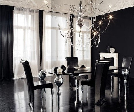 Black And White Dining Room Color Schemes