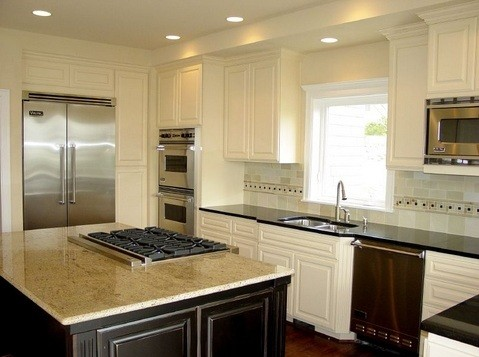Efficient Kitchen Design Enchanting Contemporary Kitchen Design  White With Metal Scheme  Home Interiors Inspiration Design