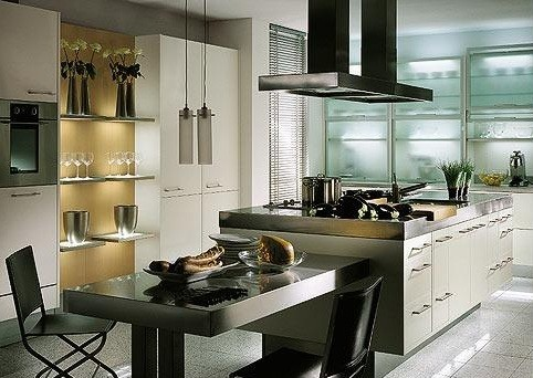 Contemporary kitchen design with smart concept home interiors for How to design my kitchen layout