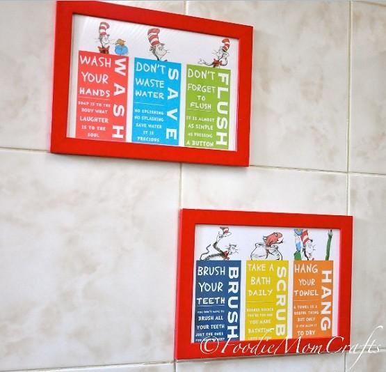 Dr Seuss Bathroom Decor For Kid S Room