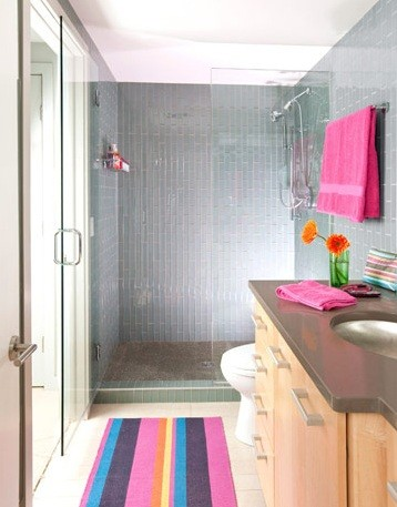 Highly Light And Colorful Basement Bathroom Design Home Interiors