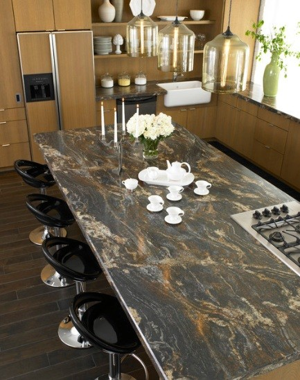 Laminate countertop colors choices for elegant kitchen for Camouflage kitchen ideas