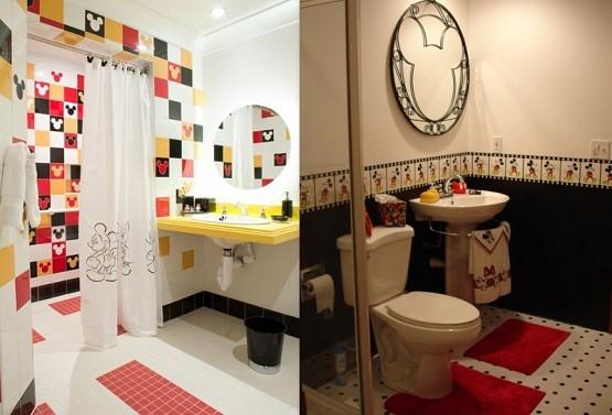 Mickey Mouse Tiles For Bathroom Ideas For Bathroom Wall
