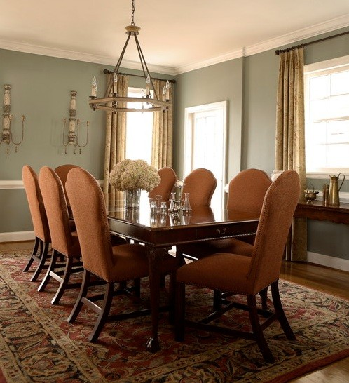 Small Dining Room Color Ideas: Pale Blue Dining Room Color Schemes