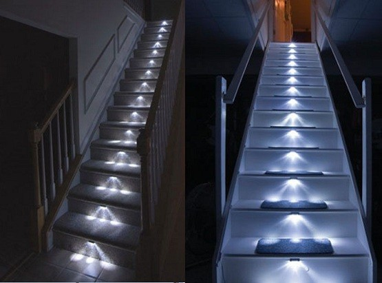 Stair lighting interior – Show up your stairway with stair lights