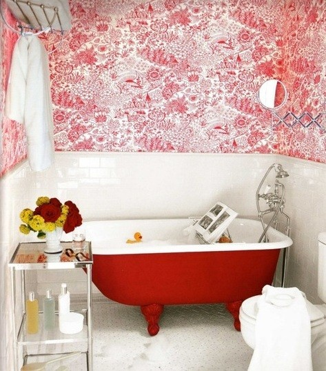 white and red small bathroom renovations home interiors