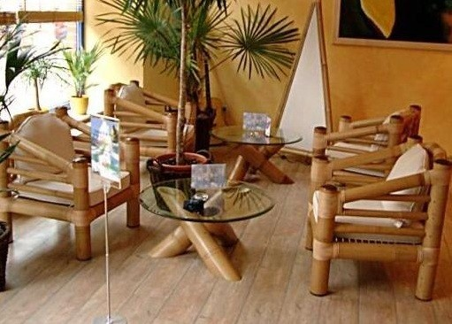 bamboo furniture set for terrace