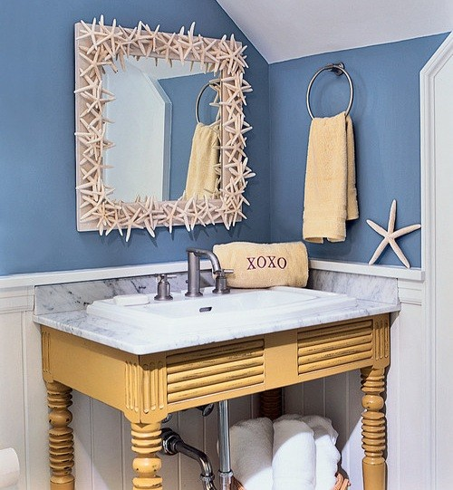 Beach Themed Bathroom In Attic