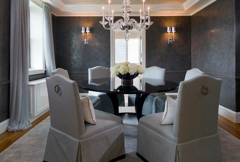 Dining Room Color Schemes Tips And Collection » Darker Grey Elegant Dining  Room Color Schemes