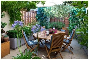 Furniture On Roof Terrace Garden