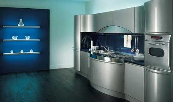 contemporary kitchen design with smart concept grey metallic contemporary kitchen