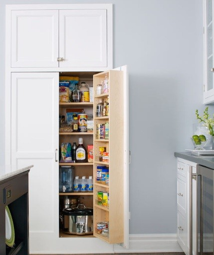 Recessed Kitchen Shelves: Pantry Shelving Units For Smart Home Storage