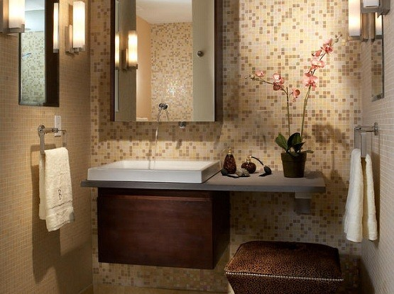 Bathroom Ideas Brown Cream tiny bathroom remodel ideas inspiration | home interiors