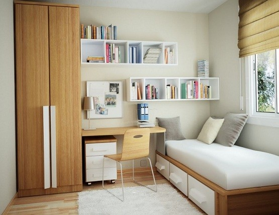Wall shelving ideas for small space home interiors - Small space shelving ideas ...