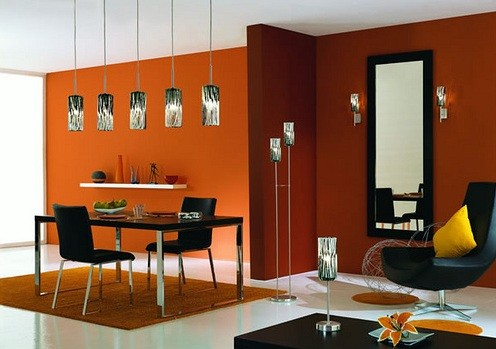 white and orange dining room color schemes | home interiors