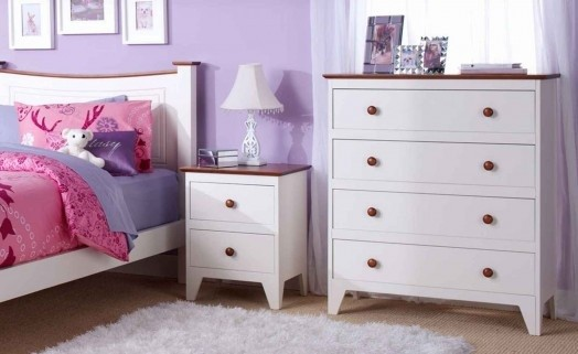 White bedroom furniture for girls - The exciting gift for your ...