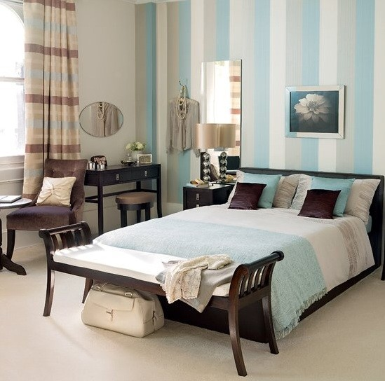 White blue brown bedroom Blue and brown bedroom ideas for decorating