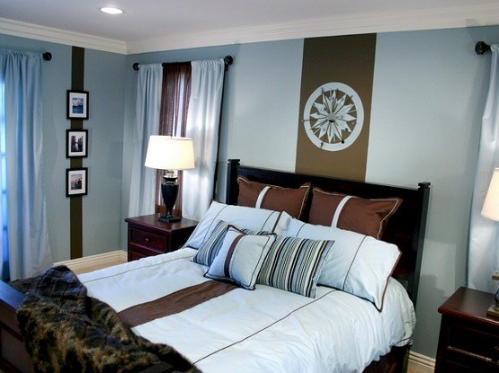 dark brown and baby blue bedroom ideas home interiors