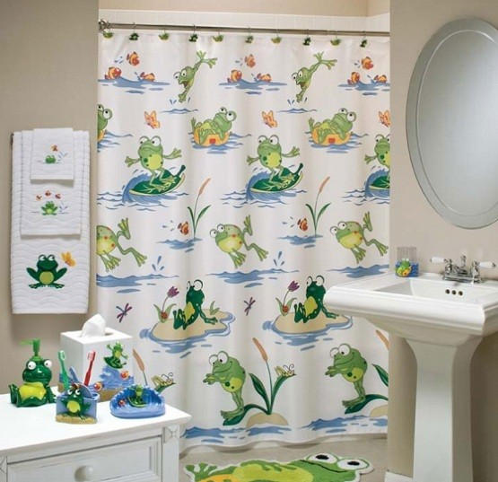 Completely new Shower curtain frog bathroom decor | Home Interiors BG79