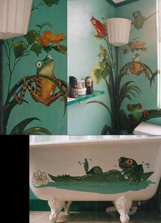 fun frog bath item