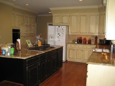 glazing and distressing black cabinets home interiors. Black Bedroom Furniture Sets. Home Design Ideas