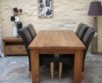 Rustic Dining Room Tables And Chairs Collection » Heavy And Simple Wooden  Rustic Dining Room Tables