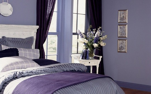 Purple Color Bedroom Home Interiors