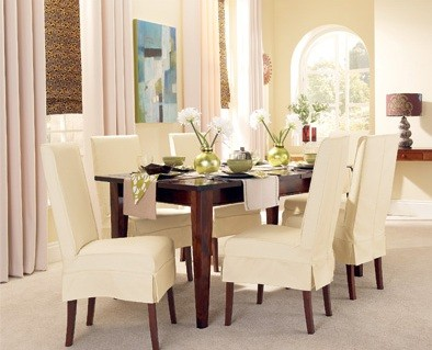 Slip Covers For Dining Room Chairs Ideas Short Skirt And Elegant
