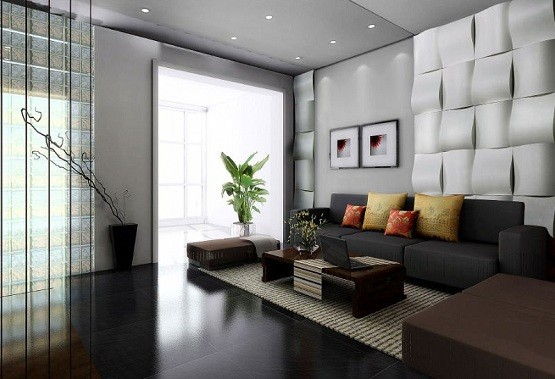3d wall decoration for living room home interiors for Model living room design