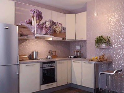 Amazing Light Purple Kitchen Wall Tile