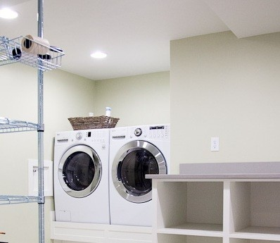 Calm color paint laundry room ideas