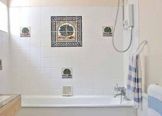 Elegant White Shower Tile Design Ideas