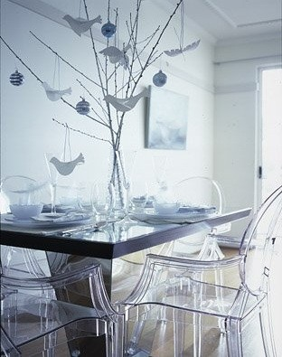 Glass Chairs Futuristic And Modern Formal Dining Room Set Home Interiors